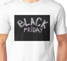 Black Friday advertisement handwritten with chalk Unisex T-Shirt