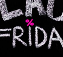 Black Friday advertisement handwritten with chalk Sticker