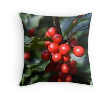Holly Holidays Throw Pillow