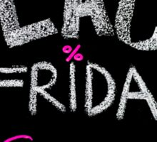Black Friday sales advertisement handwritten with chalk Sticker