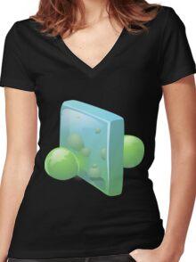 Glitch Wardrobia mental item 14 w1 Women's Fitted V-Neck T-Shirt