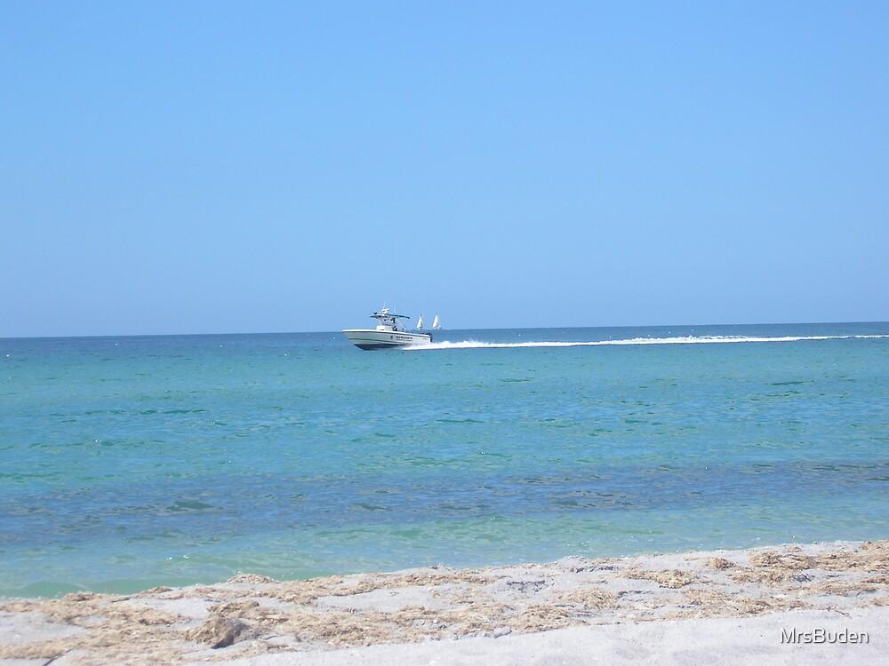 Boat in the ocean by MrsBuden