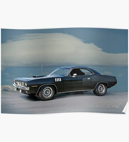 1971 Plymouth Barracuda 'HemiCuda' Poster