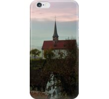 Misty Morning in Oberstammheim iPhone Case/Skin