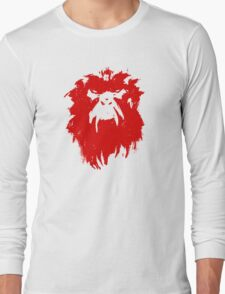 12 Monkeys - Terry Gilliam - Wall Drawing Red Long Sleeve T-Shirt