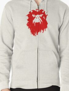 12 Monkeys - Terry Gilliam - Wall Drawing Red Zipped Hoodie