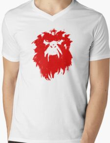 12 Monkeys - Terry Gilliam - Wall Drawing Red Mens V-Neck T-Shirt