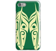 Four Feathers - Light Green on Dark Green iPhone Case/Skin