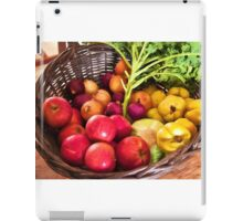 Organic healthy vegetables and fruits digital art iPad Case/Skin