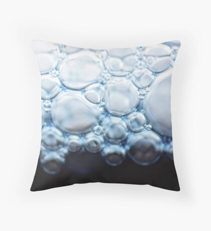 bubbly blue Throw Pillow