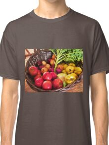 Organic healthy vegetables and fruits digital art Classic T-Shirt