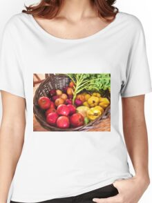 Organic healthy vegetables and fruits digital art Women's Relaxed Fit T-Shirt