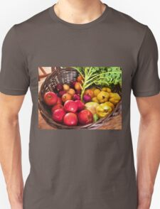 Organic healthy vegetables and fruits digital art T-Shirt