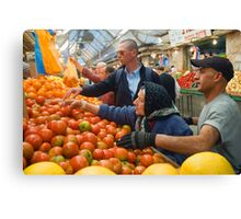"Selection! - ""Machaneh Yehuda"" market,  Jerusalem, Israel Canvas Print"