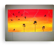 Lighting in the bush Canvas Print