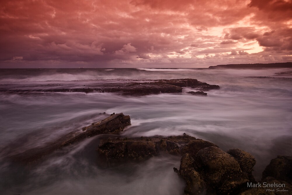 Merewether at Dusk 4 by Mark Snelson