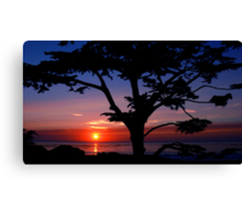 #243    Sunset From Scenic Canvas Print