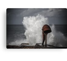 White wave splash Canvas Print