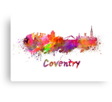 Coventry skyline in watercolor Canvas Print