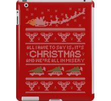 Christmas Vacation Misery iPad Case/Skin