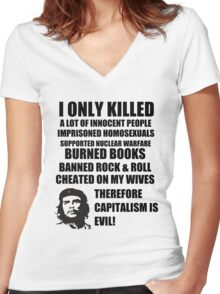 Anti-Che Guevara Women's Fitted V-Neck T-Shirt