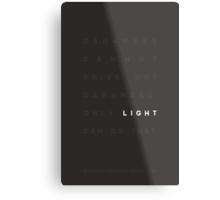 Darkness & Light Metal Print