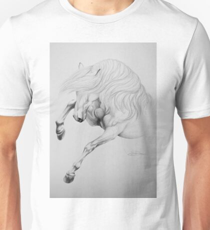 """Wild & Untamed"" - Graphite Sketch Unisex T-Shirt"