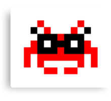Hipster Space Invader Canvas Print