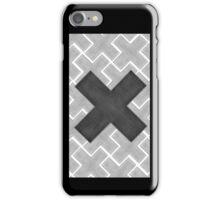 Big Cross in Crosses , Black-White iPhone Case/Skin