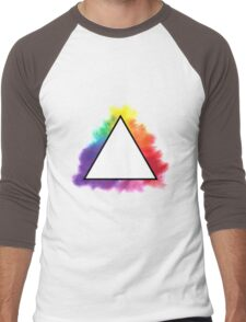 Rainbow Triangle Men's Baseball ¾ T-Shirt