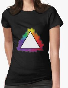 Rainbow Triangle Womens Fitted T-Shirt