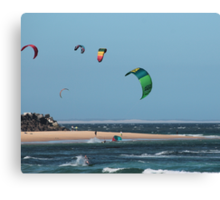 Kite Surfing @ Nobby's Canvas Print