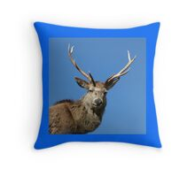 Stag face Throw Pillow