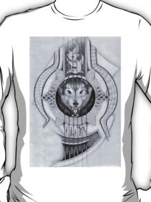 Wolf in Guitar tattoo T-Shirt