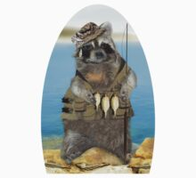 Raccoon Fisherman Kids Clothes