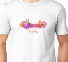 Bristol skyline in watercolor Unisex T-Shirt