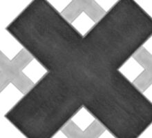 11 Crosses , White Sticker