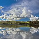Lake Meadowbank Reflections by Peter Daalder