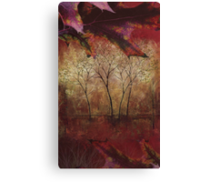 Fall Trees at the Cabin Fine Art Painting Canvas Print