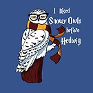 Harry Potter Inspired Hipster Owl by Stephanie Whitcomb