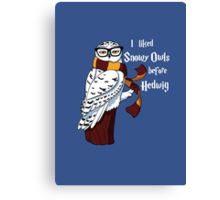 Harry Potter Inspired Hipster Owl Canvas Print