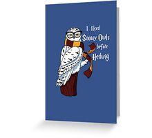 Harry Potter Inspired Hipster Owl Greeting Card