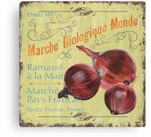 Marche Biologique Monde Canvas Print