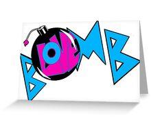 LOVE BOMB Greeting Card
