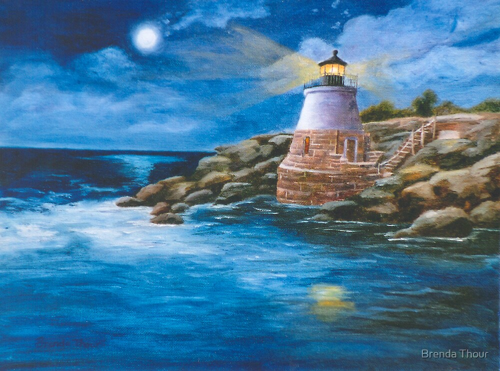 Castle Hill Light by Brenda Thour