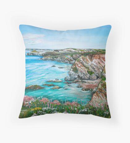"""Celtic Sea"" Throw Pillow"