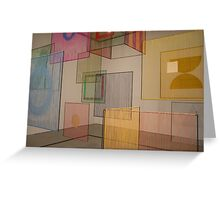 coloured panels Greeting Card