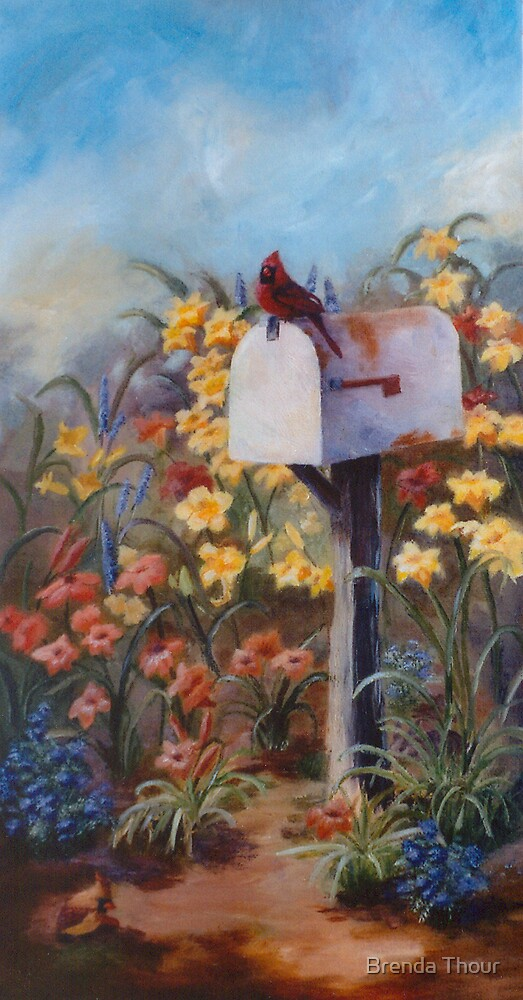 Waiting For the Mail by Brenda Thour
