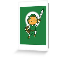 The Hero of Another World Greeting Card