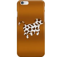 Cow With Brown Spots   iPhone Case/Skin